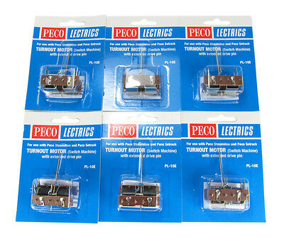 BARGAIN - 6 Pack - PECO PL-10E Point Motor With Extended Pin - Aust. Warranty