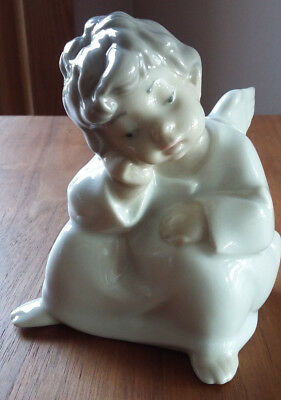 LLADRO  #4539   ANGEL THINKING  Excellent Condition!  One Owner!