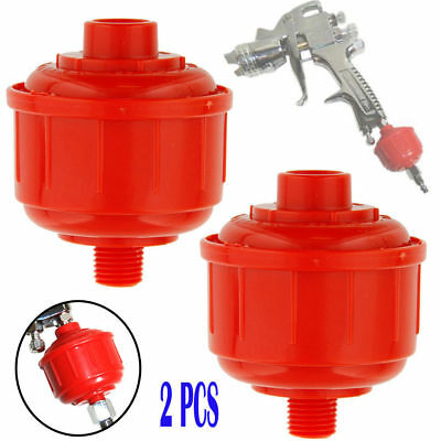 2 DISPOSABLE AIR FILTER-Water Trap HVLP Paint Spray Gun Air Tools Accessory