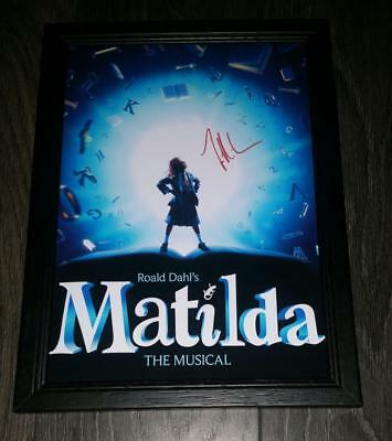 "Matilda - Musical Pp Signed & Framed A4 12X8"" Photo Poster Tim Minchin"