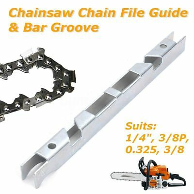 Depth Gauge Chain File Guide & Bar Groove Kit for 1/4'' 3/8'' P 0.325'' Chainsaw