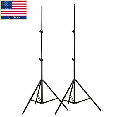 2 x Collapsible 200cm Aluminum Light Stand for Studio Video Flash Led Lighting