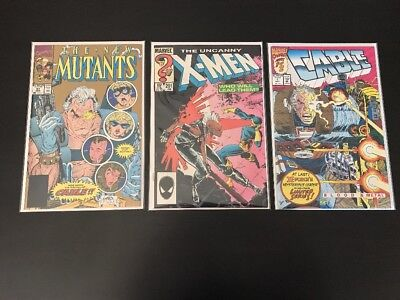 X-Men 201, New Mutants 87 Reprint, Cable 1. 1st Cable Baby Nathan Summers.
