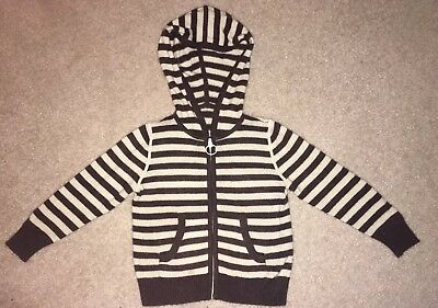 Toddler 100% Cashmere Sweater, Stripes, Size 2T-3T