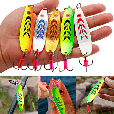 Spinner Spoon Fishing Lure Hard Metal Fake Jig Head Wobblers Lure Popper Baits
