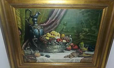 """Fruit and Wine""   Gorgeous Picture,  Excellent Condition"