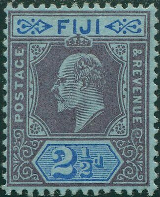Fiji 1903 SG107 2½d dull purple and blue/blue KEVII P14 MLH