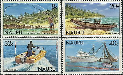 Nauru 1981 SG238-241 Fishing net vessels set MNH