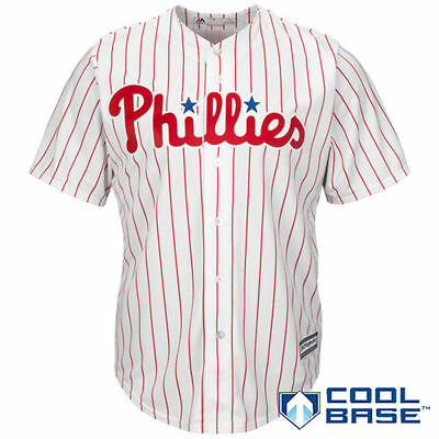 Philadelphia Phillies Majestic MLB AC Cool Base Replica Jersey - White