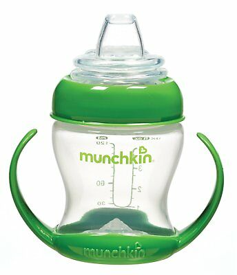 Munchkin BPA Free Flexi Transition Trainer Cup, Green, 4 Ounce