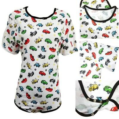 Cars and Trucks Adult Romper Onezie Bodysuite Diaper Shirt Snap Crotch