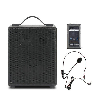 6 inch PA System 100 Watt Speaker USB Wireless Microphone AUX Guitar for party