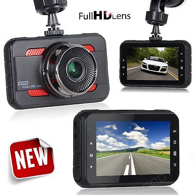 3'' HD 1080P Car DVR Dashboard Camera Vehicle Video Recorder Dash Cam G-sensor