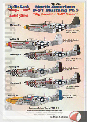 Lifelike Decals  P-51 Mustang Part 5,  Big Beautiful Doll Special 1/48 decals