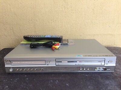 Serviced LG V8824 Combo VCR DVD player + Video Recorder + Remote + RCA