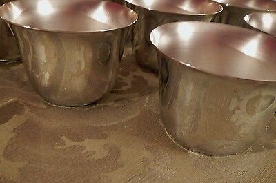 Silverplate Punch Julep Cup set of 8 for wedding, showers, pool  STACKABLE