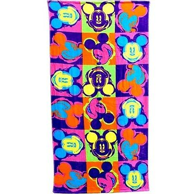 Disney Mickey Mouse Head Neon Pop Beach Towel