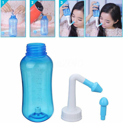 Waterpulse 300ml Nose Nasal Rinse Wash Sinus Allergies Relief Neti Pot Cleaner