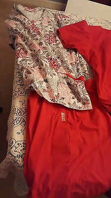lot of red scrubs butter soft and ua landau xl to l