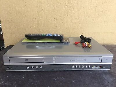 Serviced LG V271 Combo VCR DVD player + Video Recorder + Remote + RCA D