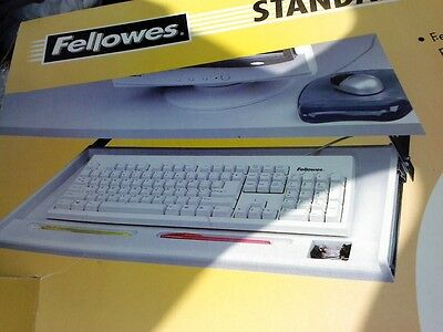 Fellowes Standard Underdesk Keyboard Manager  Storage Tray Smooth Tray Glide New