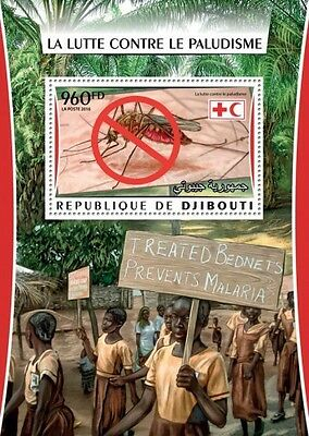 Z08 IMPERFORATED DJB16313b DJIBOUTI 2016 Malaria MNH