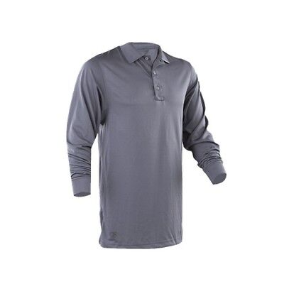 Tru-Spec 4557005 Men's Gray Poly 24-7 Long Sleeve Performance Polo - Large