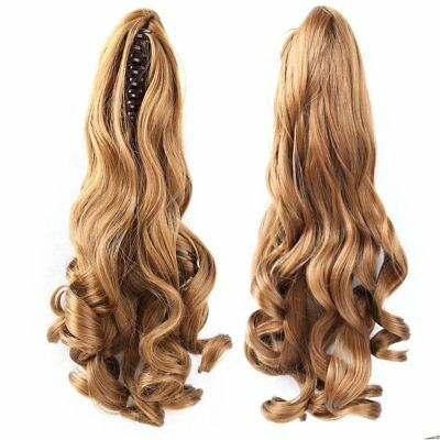 """15""""-30"""" 100% Real Human Hair Body Wave Claw Clip High Ponytail Extensions"""