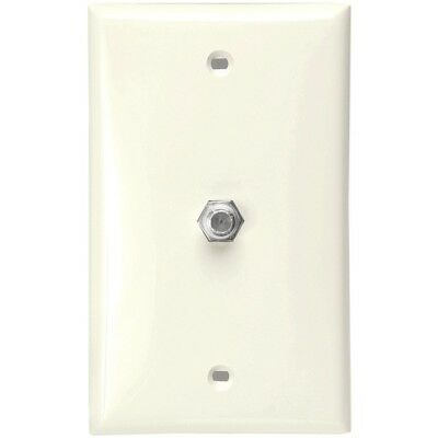 Leviton 80781-T F-Connector Wall Plate - Light Almond