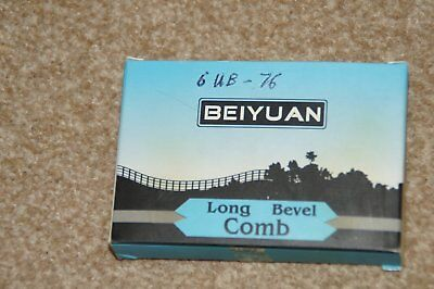 Box of 5 Beiyuan 6UB - 76 Long Bevel Comb