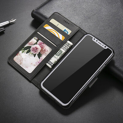 For iPhone X XS Max XR 8 7 6 Luxury Flip PU Leather Wallet Card Case Cover Stand