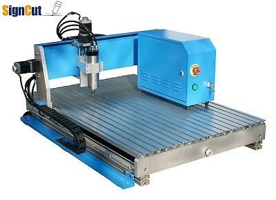 Desktop CNC Router Engraving Drilling Milling Machine Air Cooling 400mm x 600mm