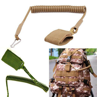 Tactical Military Adjustable Hiking Elastic Key Ring Lanyard Strap Safety Rope