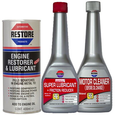 NEW AMETECH RESTORE Bundle NOISY 2L ENGINES - Engine Restorer, Flush, Super Lube