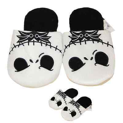 Adults Plush Warm Slippers The Nightmare Before Christmas Jack Skellington Soft!