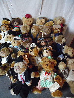 Lot 50 Nounours Peluches Ours Oursons The Teddy Bear Collection Neuves