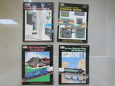 Atlas HO OO track plans wiring books x4 for model railway sets & layouts