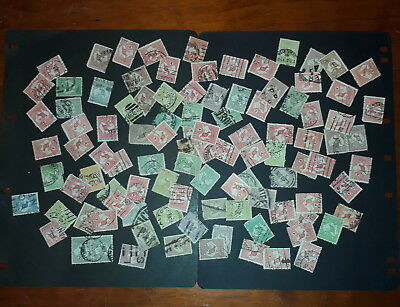 Lot of 100 Roo stamps various valiues postmarks asstd watermarks ref k21