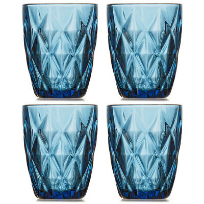 NEW S & P Camden Embossed Indigo Tumbler Set 4pce 260ml