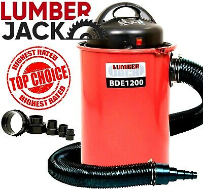 50 Litre 1200W Workshop Wood Chip Dust Extractor Vacuum 2 Metre 100mm Hose 240v