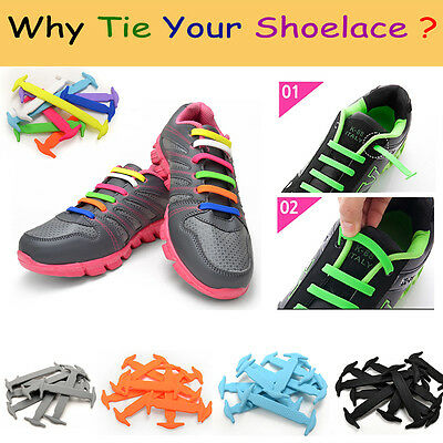 No Tie Shoelaces Elastic Silicon Shoe Laces For Walking Running Sneakers Senkel