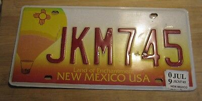 2009 New Mexico Hot Air Balloon License Plate Expired Jkm 745