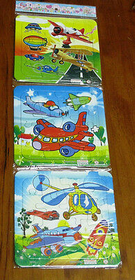 3 x Aeroplanes Jigsaw PUZZLE plus FREE POSTAGE Kids Learning Gift Planes Kids