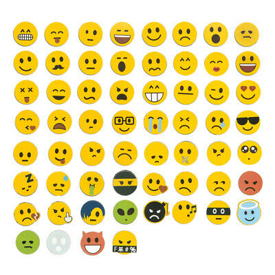 Jumbo-Set 120tlg., Emoji Emoticon Smile Lachgesichter Magnete, 60 Motive