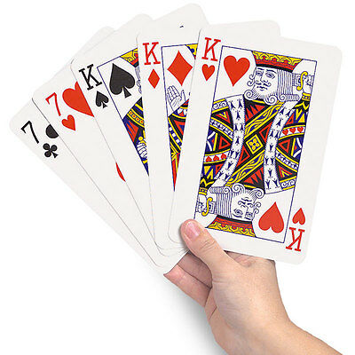 New Giant A3 Playing Cards Jumbo A4 Outdoor Magic Big Party Game Cards