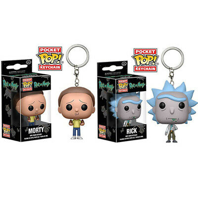 Rick and Morty Vinyl Action Figure Exclusive Pop Pocket Keychain Collectible Toy