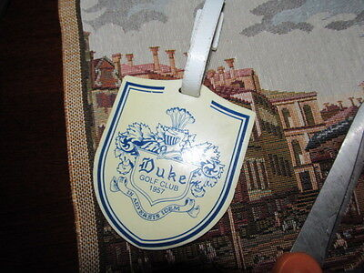 Vintage Duke University Golf Club Durham North Carolina Bag Tag In Plastic