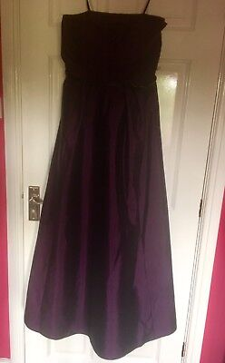 Women's Debut Purple Evening Gown Size 14