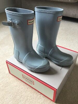 Hunter Wellies Kids Size 11 Pale Blue Good Condition