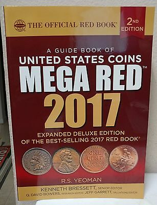 2017 Mega Red Guide Book of United States Coins Deluxe 2nd Ed Yeoman Whitman